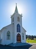 Backlighting, kościół w Bodega, Kalifornia Obraz Stock