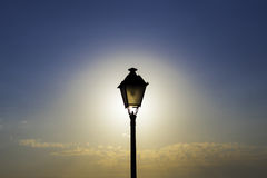 The backlighting streetlight Stock Photos