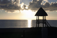 Sunset in Cancun Stock Image