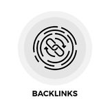 Backlinks Line Icon. Backlinks Thin Line Vector Icon. Flat icon isolated on the white background. Editable EPS file. Vector illustration Stock Image
