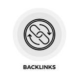 Backlinks-Linie Ikone Lizenzfreie Stockbilder