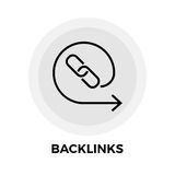 Backlinks-Linie Ikone Lizenzfreie Stockfotos