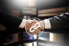 Backlinks technologii sieci Backlinks Online technologii Online sieć Obraz Royalty Free
