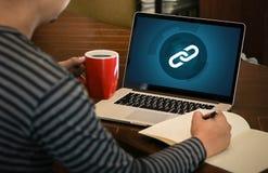 Backlinks technologii sieci Backlinks Online technologii Online sieć Obrazy Stock