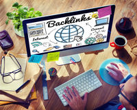 Backlinks Technology Online Web Concept Royalty Free Stock Image