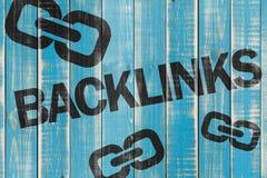 Backlinks znak Fotografia Stock