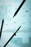 backlit голубой съемщик плана s карандаша круга Стоковое Фото