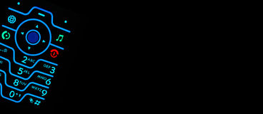 backlit текст комнаты клавиатуры мобильного телефона стоковые изображения rf