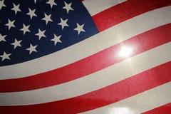 Backlit amerikanska flaggan Arkivfoton