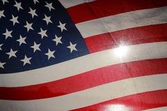 Backlit amerikanska flaggan Royaltyfri Bild