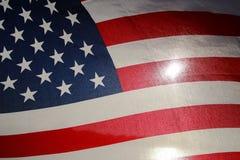 Backlit amerikanska flaggan Royaltyfria Foton