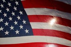 Backlit amerikanska flaggan Arkivbild