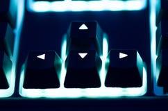 Backlit Arrow Keys Royalty Free Stock Photography