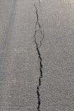 Backlit asphalt cracks Stock Photo