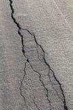 Backlit asphalt cracks Stock Photos
