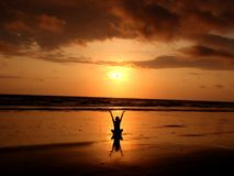 Backlit, Balance, Beach Stock Photography