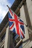 backlit bandery europejskiej jacka obraz royalty free