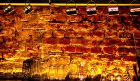 Backlit bar wall royalty free stock photos