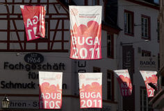 Backlit BUGA Banners Royalty Free Stock Photos