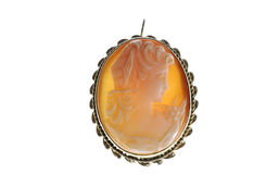 Backlit Cameo Broach Stock Photo