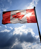 Backlit Canadian flag Royalty Free Stock Photography