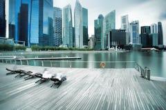Backlit city skyline Royalty Free Stock Photo