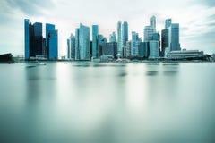 Backlit city skyline Royalty Free Stock Images
