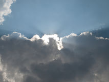 Backlit clouds Royalty Free Stock Photo
