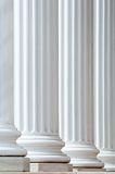 Backlit Columns. Classic white columns suitable for use as a background Stock Image