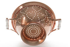 Backlit Copper Colander, Outside Royalty Free Stock Photo