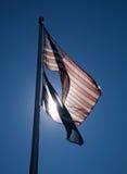 backlit flag мы Стоковое Изображение RF
