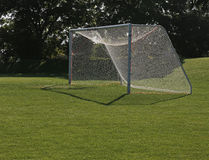 Backlit Football Goal Royalty Free Stock Images