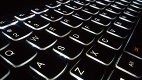 Backlit Keyboard Angle Stock Photos