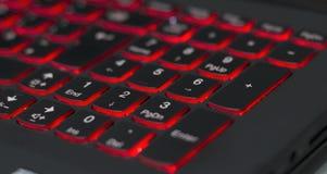 Backlit laptop numpad Royalty Free Stock Photography