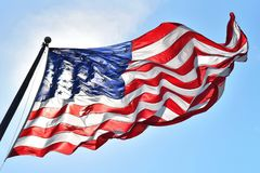 Old Glory Unfurled Stock Images