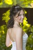 backlit piękna panna młoda fotografia royalty free