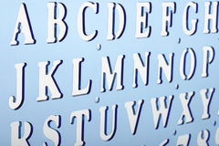 Backlit plastic alphabet stencil Stock Photography