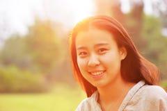 Backlit portraits girl Stock Image