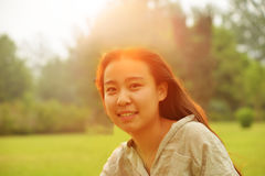 Backlit portraits girl Stock Photos