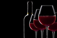 Backlit Red Wine Royalty Free Stock Images