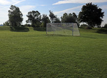 Backlit Soccer Net Royalty Free Stock Photos