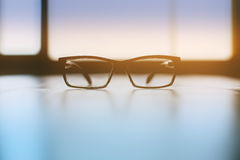 Backlit spectacles Stock Image