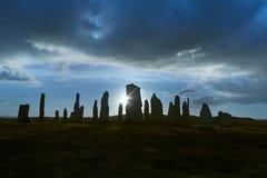 Backlit stone circle Stock Photo