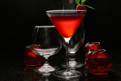 Backlit strawberry cocktail Royalty Free Stock Photography