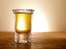 Backlit tequila Stock Photography