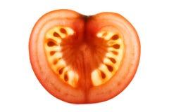 Backlit tomato slice Royalty Free Stock Photography