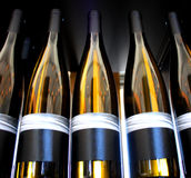 Backlit Wine Bottles Royalty Free Stock Photo