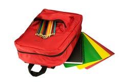 Backpack και χαρτικά στοκ φωτογραφίες με δικαίωμα ελεύθερης χρήσης
