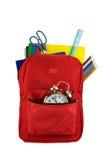 Backpack και χαρτικά στοκ εικόνα με δικαίωμα ελεύθερης χρήσης