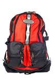 backpack μαύρο κόκκινο Στοκ φωτογραφία με δικαίωμα ελεύθερης χρήσης